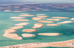 The World island in Dubai, aerial view Stock Photos