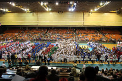 World Karate Championships 2012 - Opening Ceremony. TODAY(14.10.) IS THE LAST DAY OF THE 4th WORLD KARATE CHAMPIONSHIPS FOR CHILDREN, CADETS AND JUNIORS IN Royalty Free Stock Photo