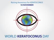 World keratoconus day background stock illustration