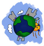 The world by a kid Royalty Free Stock Images