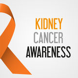 World kidney cancer day awareness poster eps10 Royalty Free Stock Image