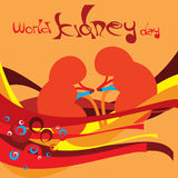 World Kidney Day 3. An illustration on World Kidney Day 3 Stock Illustration