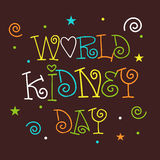 World Kidney Day. Stock Photos
