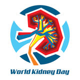 World Kidney Day, March 13th, 2014. An illustration on World Kidney Day, 2014 Royalty Free Illustration