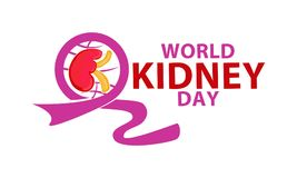 WORLD KIDNEY DAY. TEMPLATE VECTOR Royalty Free Stock Images