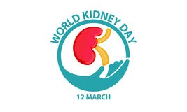 WORLD KIDNEY DAY. TEMPLATE VECTOR Royalty Free Stock Image