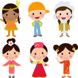 World kids. Illustration of cute world kids Stock Photography