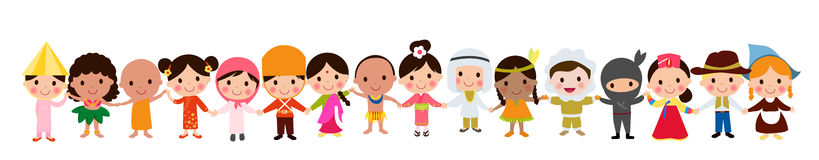 World kids. Illustration of cute world kids Stock Image