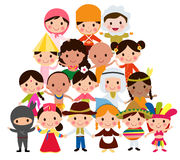 World kids. Illustration of cute world kids Stock Photo