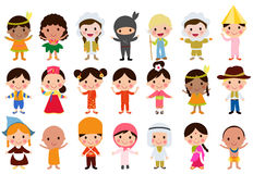 World kids. Illustration of Group of World kids Stock Photos