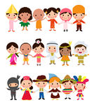 World kids. Illustration of group of world kids Royalty Free Stock Image