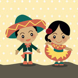 World Kids from Mexico royalty free illustration