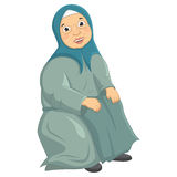 Old Woman Siting Vector Illustration Royalty Free Stock Photo