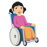 Kid Disabled Vector Illustration royalty free illustration