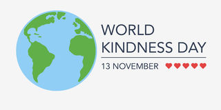 World kindness day. 13 November. flat  illustration Royalty Free Stock Photography