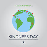 World kindness day. 13 November. flat  illustration Royalty Free Stock Photo