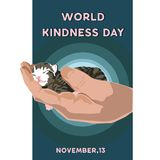 World Kindness Day Vector Illustration. Kindness Campaign for world. stock illustration