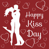 World kiss day Royalty Free Stock Images