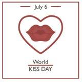 World Kiss Day, July 6 Stock Photo