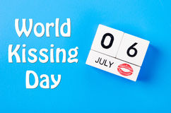 World kissing day concept. stock photos