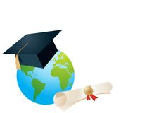 World of knowledge vector Royalty Free Stock Photography