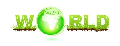 World label Stock Image