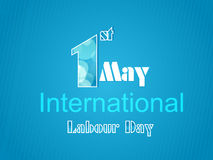 World Labour Day concept with stylish text on shin Stock Photography