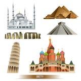 World Landmark icon set / vector Royalty Free Stock Image