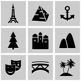 World Landmark icons set great for any use. Vector EPS10. Royalty Free Stock Photography