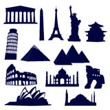 World landmarks Royalty Free Stock Photography