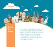 World landmarks background Royalty Free Stock Photography
