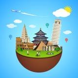 World landmarks concept. Vector illustration for travel design. Stock Photo