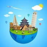 World landmarks concept. Vector illustration for travel design. Stock Image