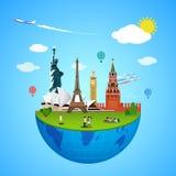 World landmarks concept. Vector illustration for travel design. Stock Photography