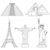 World Landmarks Royalty Free Stock Photography