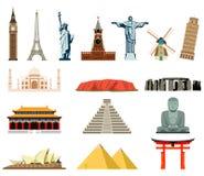 World landmarks. Famous world landmarks  Royalty Free Stock Image