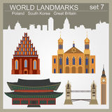 World landmarks icon set. Elements for creating infographics. Vector illustration Royalty Free Stock Photo