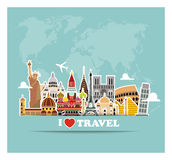 World landmarks  icons set Royalty Free Stock Images