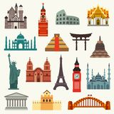 World Landmarks icons Stock Image