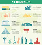 World landmarks Infographics set. Travel and Tourism concept. Vector Stock Images