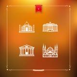 World Landmarks Royalty Free Stock Photo