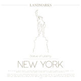 World landmarks. New York. USA. Statue of Liberty. Graphic template Royalty Free Stock Photos