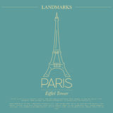 World landmarks. Paris. France. Eiffel tower. Graphic template. Stock Image