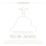 World landmarks. Rio de Janeiro. Brazil. Christ the Redeemer Statue Royalty Free Stock Photography