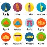World landmarks Royalty Free Stock Photos