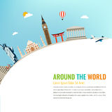 World landmarks. Travel and tourism background. Vector Stock Photography