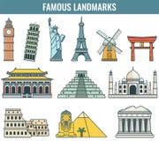 World landmarks. Travel and Tourism. Vector Stock Photos