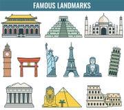 World landmarks. Travel and Tourism. Vector Stock Image