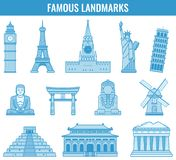 World landmarks. Travel and Tourism. Vector Stock Images