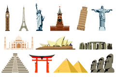World Landmarks. Vector Royalty Free Stock Photos